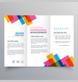 colorful stripes business trifold brochure layour vector image vector image