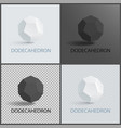 dodecahedron three-dimensional shape plane faces vector image vector image