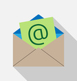 E-mail envelope icon vector image vector image