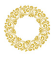 elegant hand drawn retro floral frame vector image