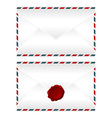 Envelopes over white vector image