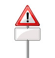 exclamation road sign vector image