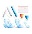 feminine hygiene set vector image vector image