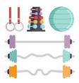 fitness gym club icons athlet and sport vector image vector image