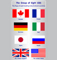 flags of eight g8 vector image