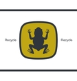 Flat icon amphibian Frog Card vector image vector image