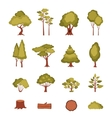 Forest Elements Set vector image vector image