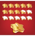 Golden rating stars vector image vector image
