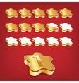 Golden rating stars vector image