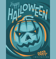 halloween party artistic invitation design vector image