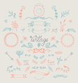 Hand Drawn Vintage Elements Set vector image vector image