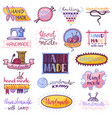 handmade logo sewing knitting handcraft vector image