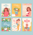 happy mothers day card best mom ever flower vector image vector image