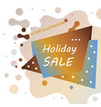 holiday sale calligraphy calligraphic banner sale vector image