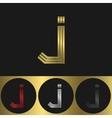 J Letter logo vector image vector image