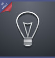 Light lamp icon symbol 3D style Trendy modern vector image vector image