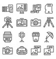 line photography equipment post vector image vector image