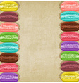 macaroon old background vector image vector image