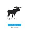 moose icon simple car sign vector image