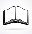 open book black and white vector image