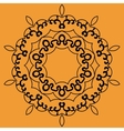 Outlined Mandala Print on Orange Background vector image vector image