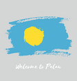 palau watercolor national country flag icon vector image vector image