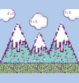 pixelated videogame scenery vector image vector image