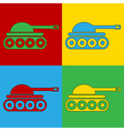 Pop art panzer icons vector image vector image