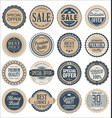 retro badges collection vector image vector image