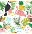 seamless cartoon doodle pattern exotic vector image vector image