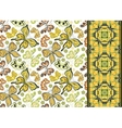Seamless pattern with colorful vintage butterflies vector image vector image