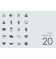Set of cardiology icons vector image vector image