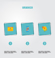 set of wd icons flat style symbols with mobile vector image