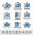 set photography and camera service logo vector image vector image