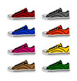 shoes in on white background vector image vector image