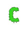 slime logo letter c vector image