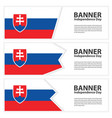 slovakia flag banners collection independence day vector image vector image