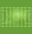 soccer or football game field vector image vector image