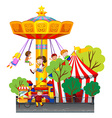 Swing ride at the theme park vector image vector image