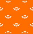treasure pattern orange vector image vector image