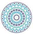Tribal folk Aztec geometric pattern in circle vector image vector image