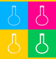 tube laboratory glass sign four styles of icon vector image vector image