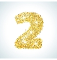 Two number in golden style vector image vector image