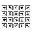 type of product icons in simple style vector image