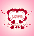 Valentine background vector image vector image