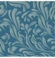 Vintage blue floral background vector image vector image