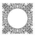 vintage imperial baroque mirror round frame vector image vector image