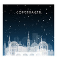 winter night in copenhagen night city vector image vector image