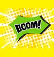 boom in pop art style vector image
