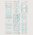 Hand drawn vintage elements collection vector image
